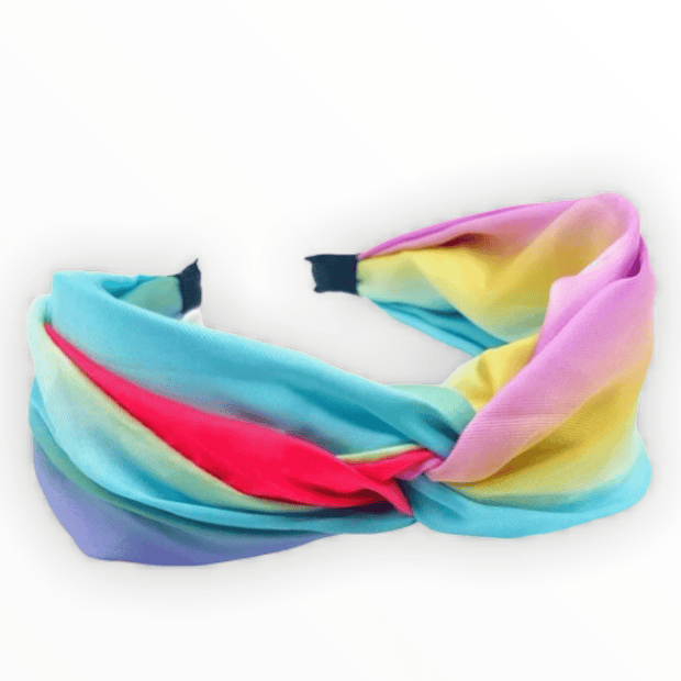 Tie Dye Wide Headband with Twist