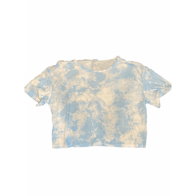 Relaxed tie dyed float crop top