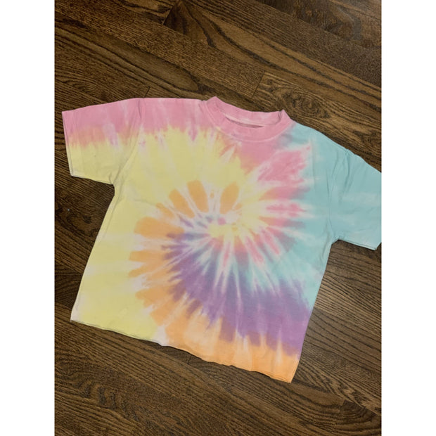 Kids Lolli swirl cropped tee