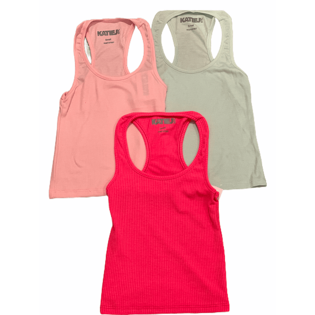 Tween ribbed tank - multiple colors