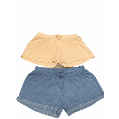 Ribbed hacci shorts - multiple colors