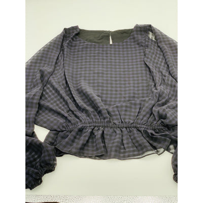 Bubble dolman blouse grey/black - Bolt Addiction