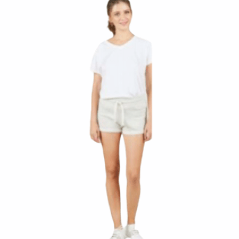 Heather Sand French Terry Rolled Cuff Shorts
