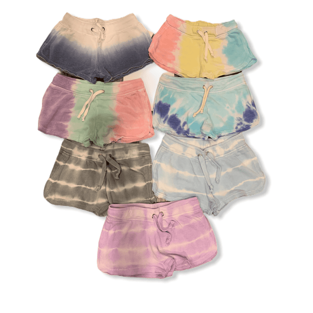 Tie Dye Hacci Shorts - 7 different options