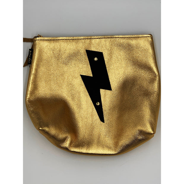 Metallic gold bag with black bolt - Bolt Addiction