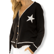 Star Cardigan Sweater