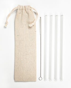 Reusable Glass Straw Sets