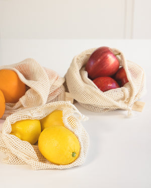 Zero Waste Produce Shopping Set (4 bags)