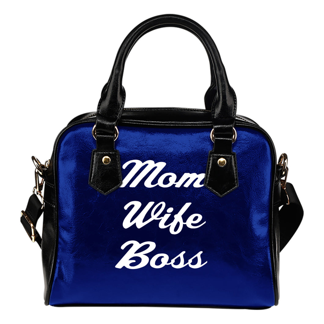NP Mom Wife Boss Leather Shoulder handbag