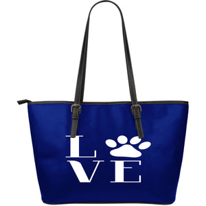 NP Love Dogs Leather Tote Bag