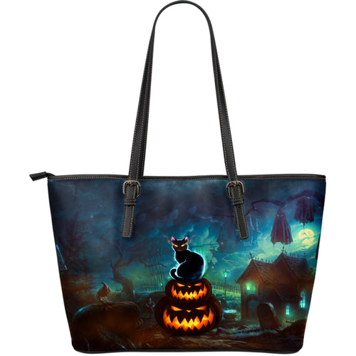 NP Halloween Leather Tote Bag