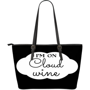 NP Cloud Wine Leather Tote Bag