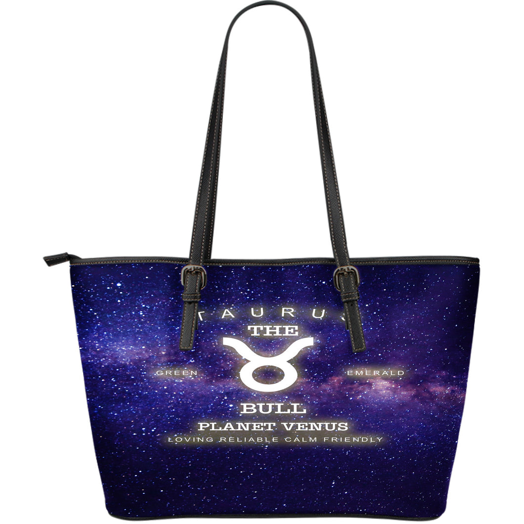 NP Zodiac Taurus Leather Tote Bag