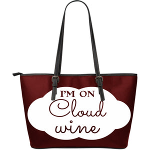 NP Could Wine Leather Tote Bag