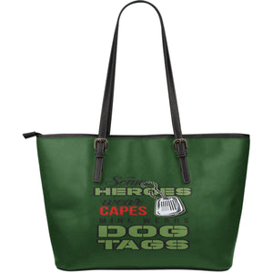 NP Some Heroes Leather Tote Bag