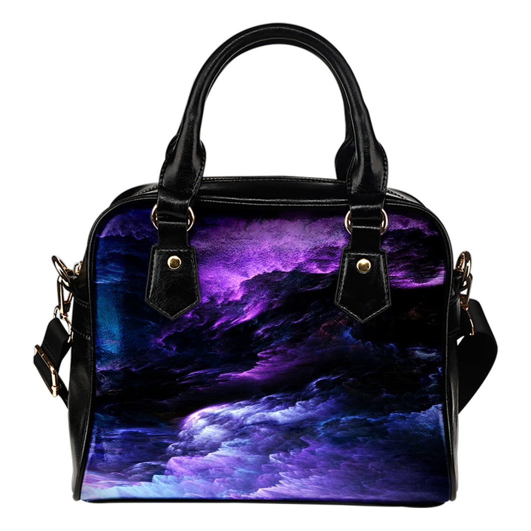 NP Universe Leather Shoulder Handbag