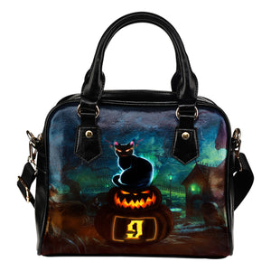 NP Halloween Leather Shoulder Handbag