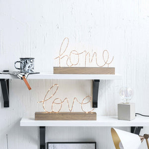 Love and Home Light Decor