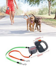 Load image into Gallery viewer, Extended Twin Dog leash