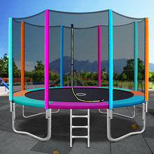 Load image into Gallery viewer, 12FT Trampoline Round Trampolines Kids Safety Net Enclosure Pad Outdoor Gift Multi-coloured