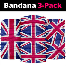 Load image into Gallery viewer, United Kingdom Flag Bandana Headbands 3 Pack