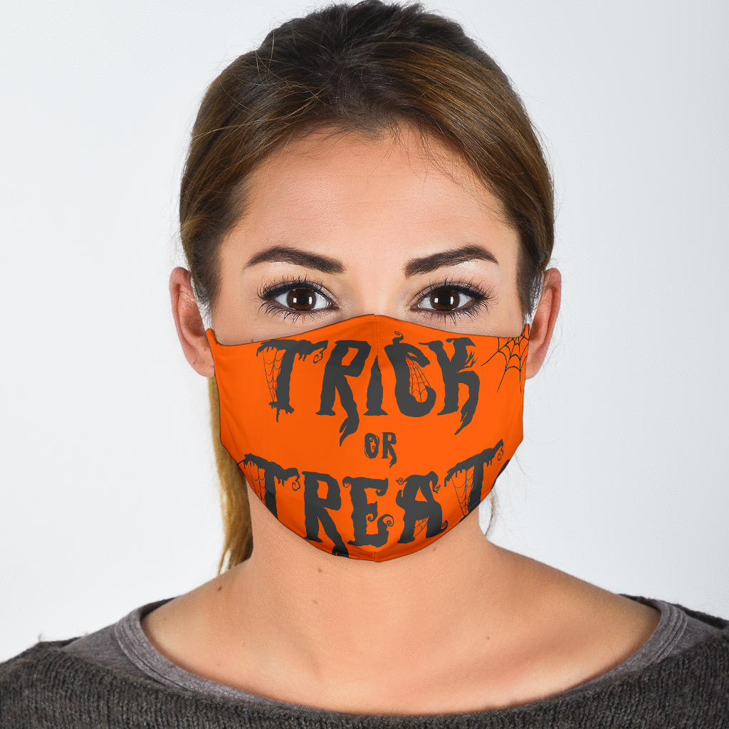 Face Mask Halloween Trick or Treat WH