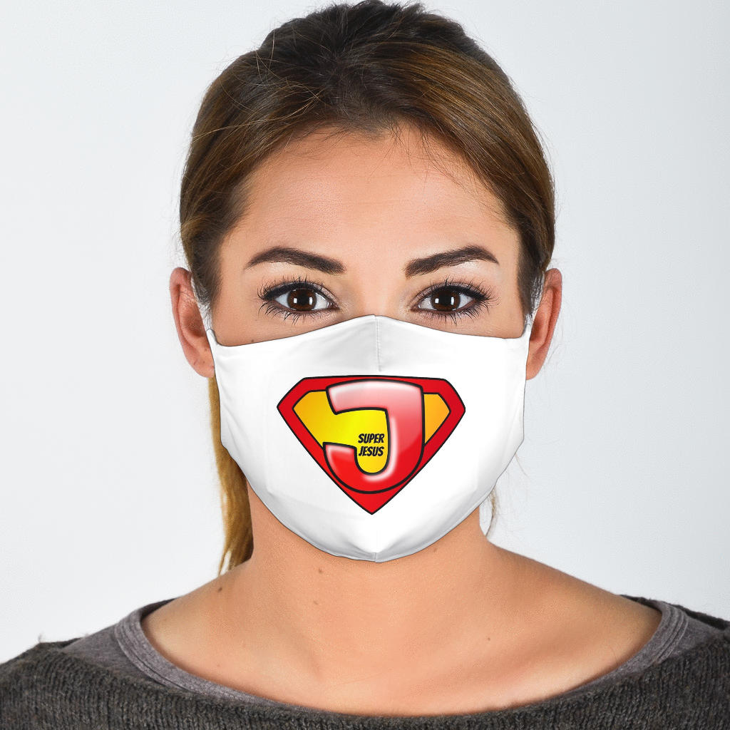 Super Jesus Face Mask