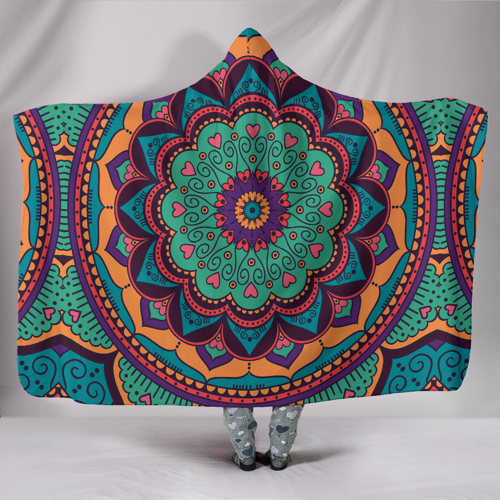 Yoga Mandala Hooded Blanket