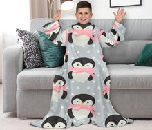 Load image into Gallery viewer, Cute Penguins Kids Snuglee Blankie