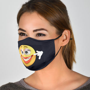Miss Smiling Emoji Face Cover
