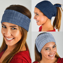 Load image into Gallery viewer, Shades of Denim (Light, Mid, Dark) - Bandana 3 Pack