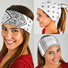 Load image into Gallery viewer, White Bandana Headbands 3 Pack