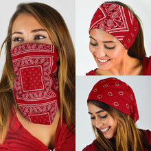 Load image into Gallery viewer, Classic Red Bandana Headbands 3 Pack