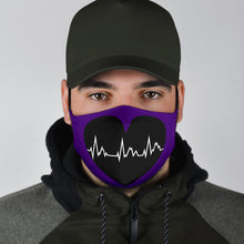 Load image into Gallery viewer, Face Mask Heart Heartbeat