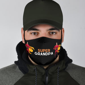 Super Grandpa Face Cover