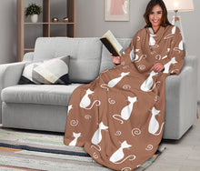 Load image into Gallery viewer, Brown & White Cat Snuglee Blankie