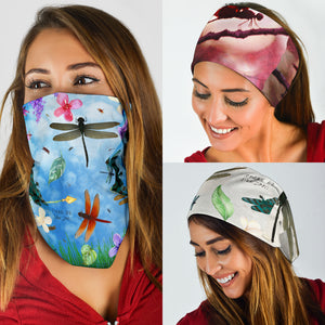 Dragonfly Face Covers and Headbands