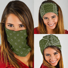 Load image into Gallery viewer, Army Green Bandana Headbands 3 Pack