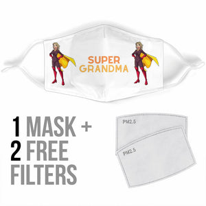 Super Grandma Face Cover