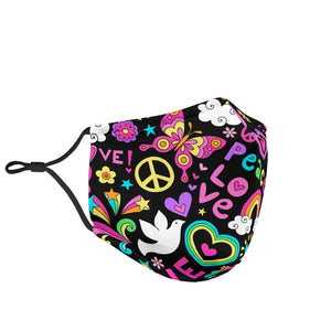Love and peace Face Mask