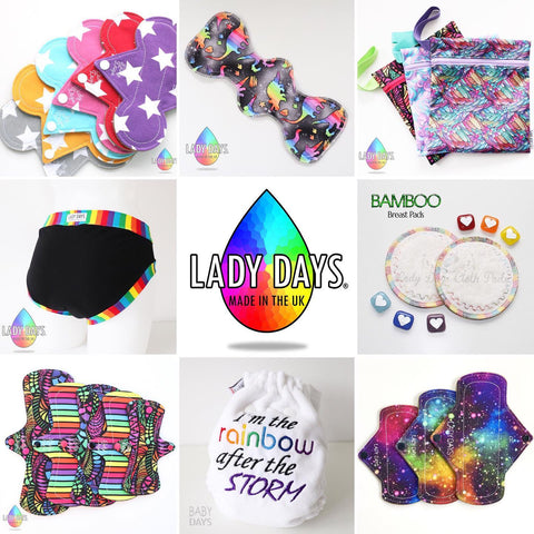 lady days cloth pads product range visual