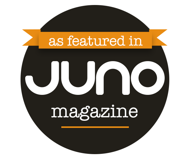 as featured in Juno badge