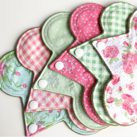 "7"" Cloth Panty Liner Set of 6 - Lady Days Cloth Pads"