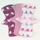 Organic 100% Cotton Cloth Panty Liner Set - Lady Days Cloth Pads
