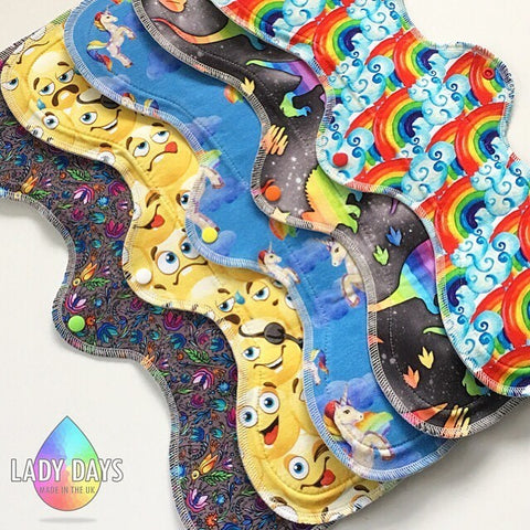 "Custom Order 18"" Mega Luxe - SURPRISE PRINT - Lady Days Cloth Pads"