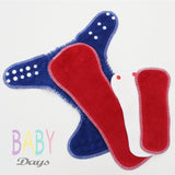 Baby Days One Size Hybrid Cloth Nappy - Lady Days Cloth Pads