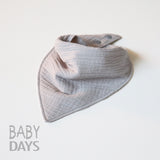Muslin Dribble Bib - Silver Grey - Lady Days Cloth Pads