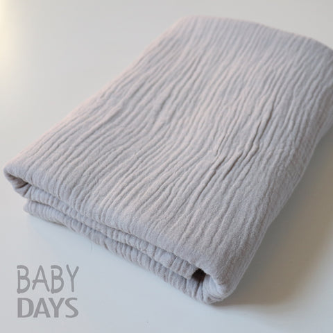 Muslin Blanket - Silver Grey - Lady Days Cloth Pads