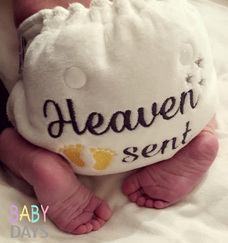 Newborn Heaven Sent Cloth Nappy