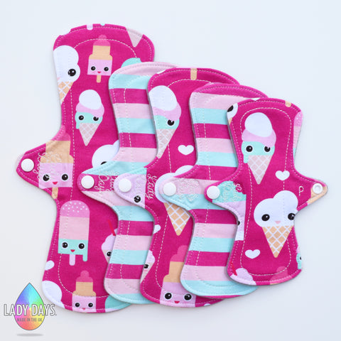 Lady Lithe Cloth Menstrual Pad Set. - Lady Days Cloth Pads